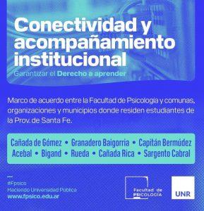 Conectividad y acompañamiento institucional
