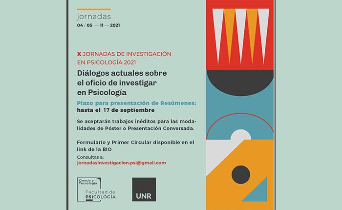 """X Jornadas de Investigación en Psicología 2021: """"Diálogos actuales sobre el oficio de investigar en Psicología"""""""